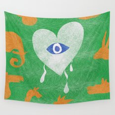 jungle heart Wall Tapestry