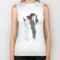 ripley Biker Tanks featuring Leia and Ripley by Ashley Anderson