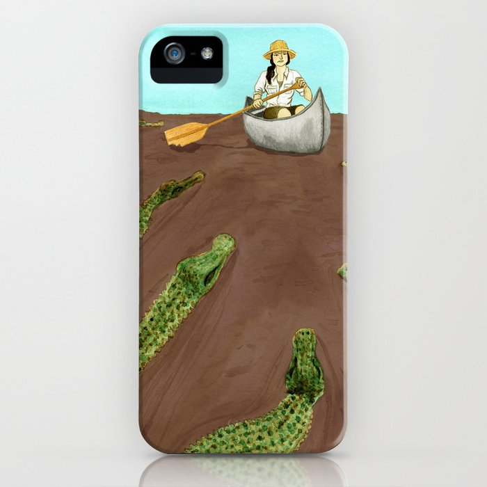 Up a Creek....with a lot of 'gators iPhone Case