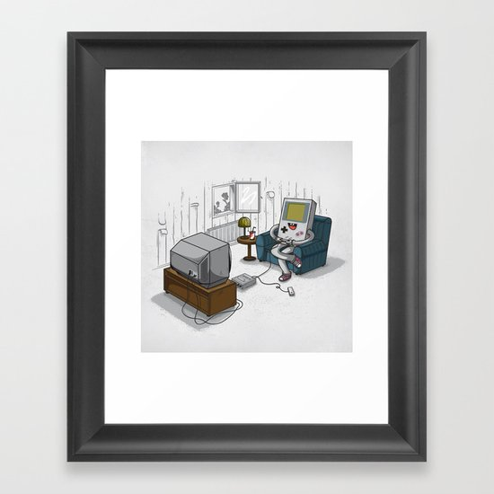 True Computer Love Framed Art Print