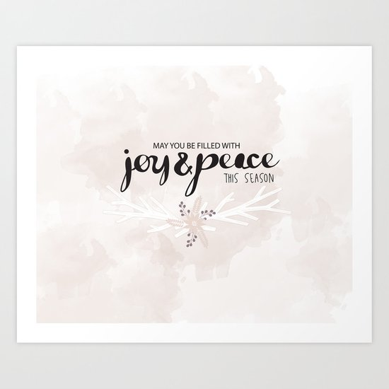 Joy & Peace Art Print