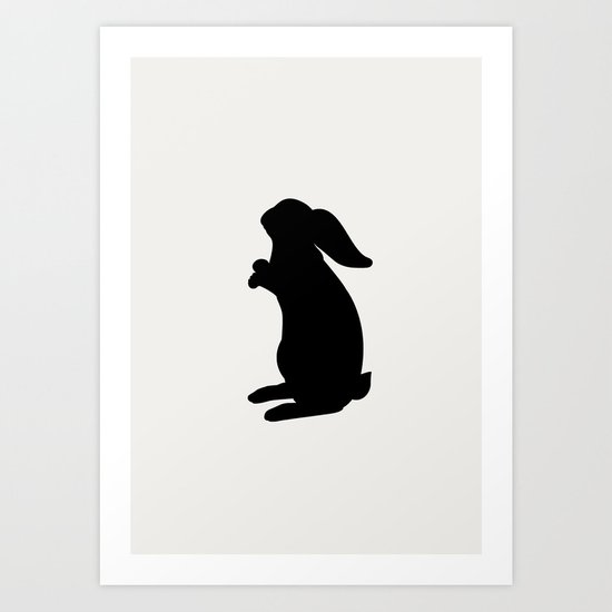 Positive Posters Rabbit Art Print