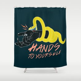 Hands to Yourself Shower Curtain