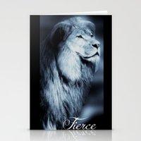 fierce Stationery Cards featuring Fierce by RubyBliss