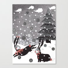 Snow Carnival Canvas Print