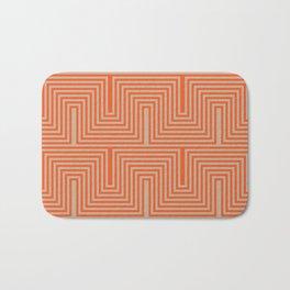 Doors & corners op art pattern in orange and beige Bath Mat