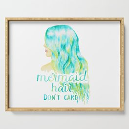 Mermaid Hair, Don't Care Serving Tray