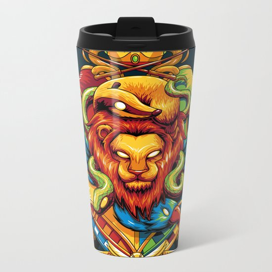 Harry Potter : Hogwarts Houses Metal Travel Mug