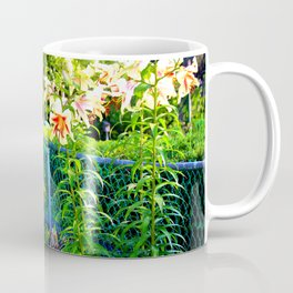 Lilies By The Fence Coffee Mug