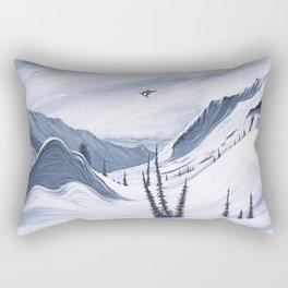 'Chads Gap' Iconic Snowboarding Moments Rectangular Pillow