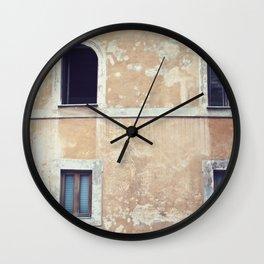 Windows on Rome Wall Clock