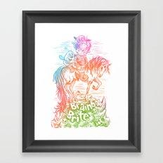 Brainbow Brite.  Framed Art Print