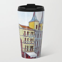 Postcard from Plaza Mayor, Segovia, Spain Travel Mug
