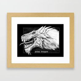 Polar dragon portrait, black Gothic edition Framed Art Print
