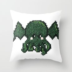 Tiny Cthulhu Throw Pillow