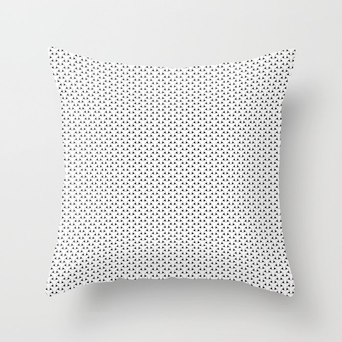 Black and White Basket Weave Shape Pattern - Graphic Design Throw Pillow