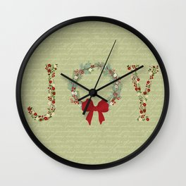Joy Wreath Wall Clock