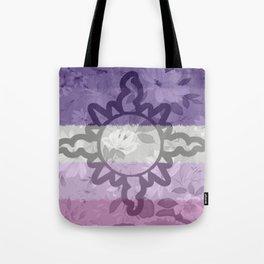 Light Aspect Lesbian Floral Tote Bag