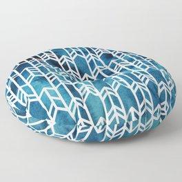 Indigo Dyed Arrows Floor Pillow