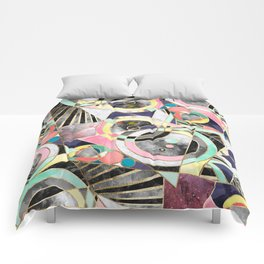 Modern geometric abstract pattern Comforters