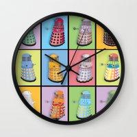 dalek Wall Clocks featuring Dalek Dreams by Megs stuff