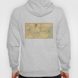Map of the Proposed Panama Canal (1906) Hoody