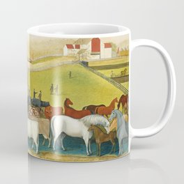 Cows - Farm Decor - Painting by Edward Hicks Coffee Mug