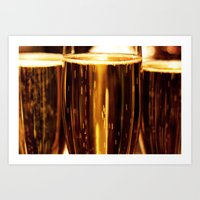 champagne Art Prints featuring Champagne  by Al Robinson