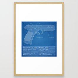 Lebedev PL-14 Blueprint Framed Art Print