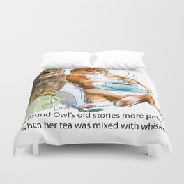 The owl and the pussycat Duvet Cover