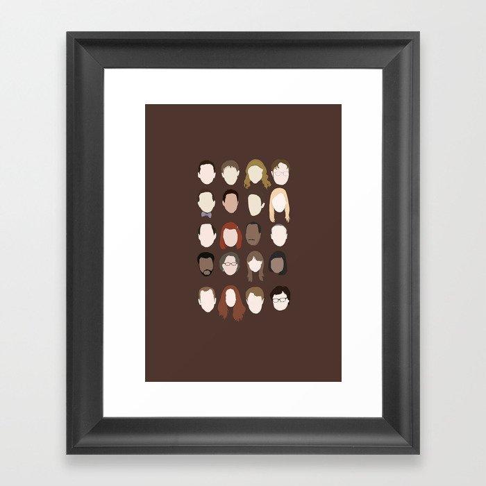 The Office Minimalist Poster Framed Art Print