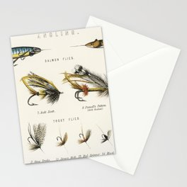 Angling baits from British Fresh Water Fishes (1879) Stationery Cards