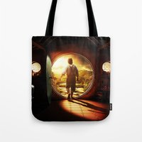 lord of the rings Tote Bags featuring THE LORD OF THE RINGS by September 9