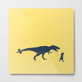Walking my beast Metal Print