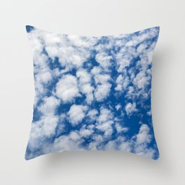 Sky and clouds Throw Pillow