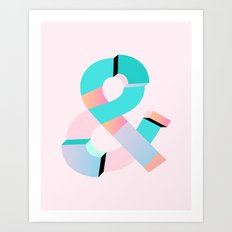 Geometric Shades Art Print