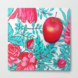 rosy apple Metal Print