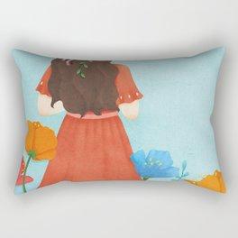 Beautiful Flower Girl Rectangular Pillow