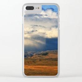 Distant Summer Rainstorm Clear iPhone Case