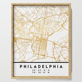 PHILADELPHIA PENNSYLVANIA CITY STREET MAP ART Serving Tray