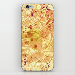 Pattern - Floral  monochrome iPhone Skin