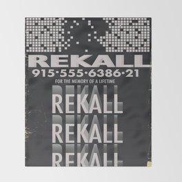Rekall ( Total Recall ) Vintage magazine commercial. Throw Blanket
