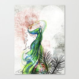Reaching for the moon Canvas Print