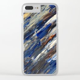 Blueberries and Chocolate Ice Cream in Acrylic Clear iPhone Case