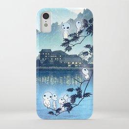 Kodama, Forest spirits vintage japanese woodblock mashup iPhone Case