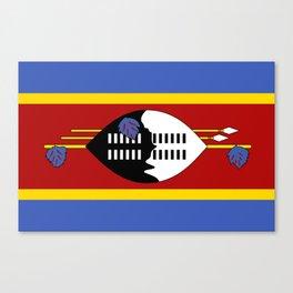 Flag of Swaziland Canvas Print