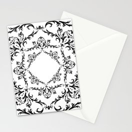 Abstract black ornament Stationery Cards
