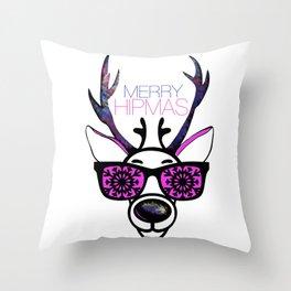 MERRY HIPMAS / DEER Throw Pillow