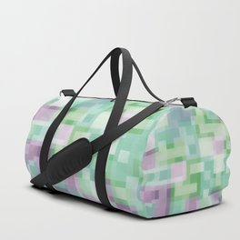 Soft Squares in Pastel Purple and Green Duffle Bag