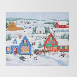 Wintertime in Sugarcreek Throw Blanket